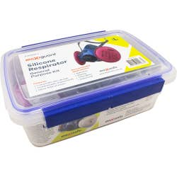 HALF MASK SILICONE KIT WITH P3 CARBON CARTRIDGES LARGE