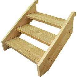 T/PINE STRINGER 3 STEP INCL 90CM TREADS