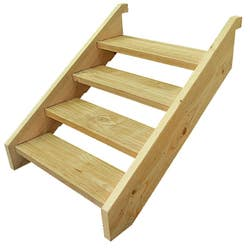 T/PINE STRINGER 4 STEP INCL 90CM TREADS
