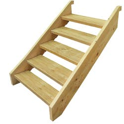 T/PINE STRINGER 5 STEP INCL 90CM TREADS