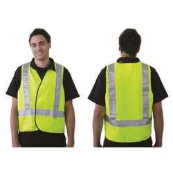 SAFETY VEST DAY/NIGHT YELLOW - LARGE