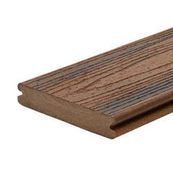 TREX TRANSCEND GROOVED DECKING SPICED RUM 139.7X25.4MM 6.1M