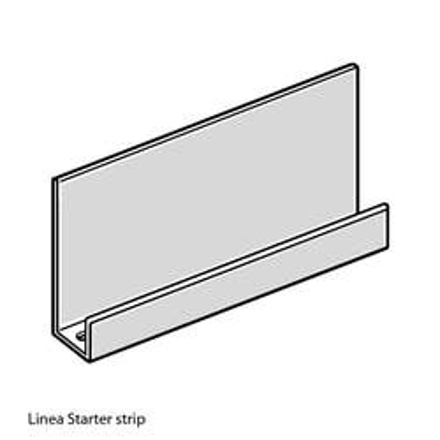 JAMES HARDIE LINEA PVC STARTER STRIP 3000MM