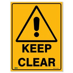 SAFETY SIGN KEEP CLEAR 600X450