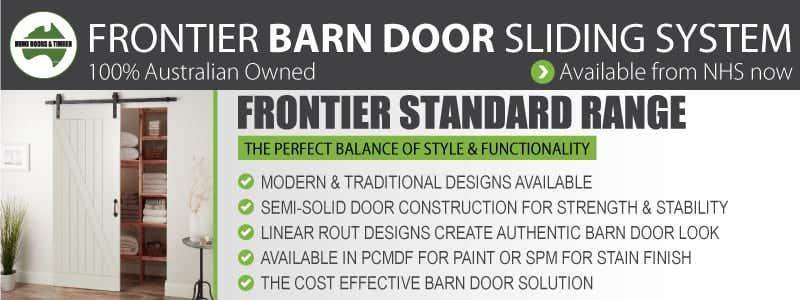 Frontier Barn Door Sliding System from Hume Doors