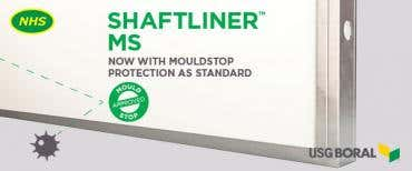 USG Boral Shaftliner is now mould resistant